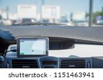 a car with a navigator is... | Shutterstock . vector #1151463941