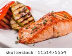 hot and spicy fillet red fish.... | Shutterstock . vector #1151475554