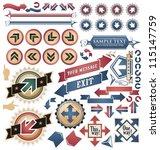 vintage arrows   icons  symbols ... | Shutterstock .eps vector #115147759
