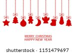 red christmas ornament elements ... | Shutterstock . vector #1151479697