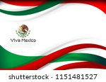 mexico flag color background... | Shutterstock .eps vector #1151481527