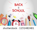 back to school banner poster... | Shutterstock .eps vector #1151482481