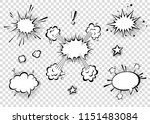 speech bubbles with halftone... | Shutterstock .eps vector #1151483084