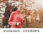 female runner watching on...   Shutterstock . vector #1151483891