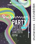 night party banner template for ... | Shutterstock .eps vector #1151485484