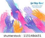 helping hand concept. gesture ...   Shutterstock .eps vector #1151486651