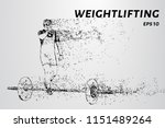 weightlifters compete. sports... | Shutterstock .eps vector #1151489264