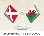 denmark vs wales  league b ... | Shutterstock .eps vector #1151490977
