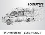 transportation of cargo from... | Shutterstock .eps vector #1151492027