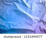 crumpled paper texture... | Shutterstock . vector #1151494577