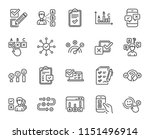 survey or report line icons.... | Shutterstock .eps vector #1151496914