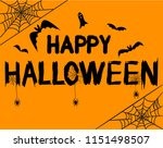 happy halloween text banner... | Shutterstock . vector #1151498507