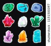 crystal vector set. crystalline ...   Shutterstock .eps vector #1151500397