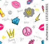 abstract seamless girlish...   Shutterstock .eps vector #1151518001