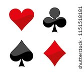 suit of playing cards. | Shutterstock .eps vector #1151518181