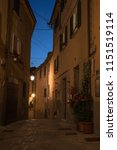 narrow street in the old town... | Shutterstock . vector #1151519114