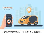 carsharing service illustration.... | Shutterstock .eps vector #1151521301
