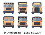 set of various types of lorry... | Shutterstock .eps vector #1151521304