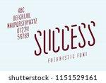 narrow futuristic italic font... | Shutterstock .eps vector #1151529161