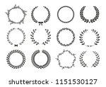 vector laurel wreaths on white...   Shutterstock .eps vector #1151530127