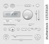 light web ui elements design... | Shutterstock .eps vector #115153165