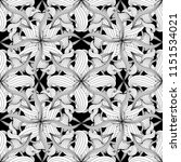 intricate abstract black and... | Shutterstock .eps vector #1151534021