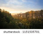 great morning light with fog... | Shutterstock . vector #1151535701