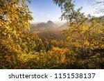 epic sunrise light at the peak... | Shutterstock . vector #1151538137