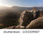 wonderful nature in autumn in... | Shutterstock . vector #1151539007