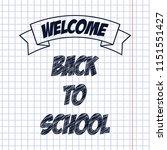back to school poster ... | Shutterstock .eps vector #1151551427