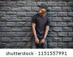 handsome african american man... | Shutterstock . vector #1151557991
