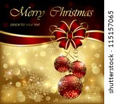 background with christmas... | Shutterstock .eps vector #115157065