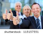 happy successful business group ... | Shutterstock . vector #115157551