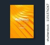 autumn sale banner design.... | Shutterstock .eps vector #1151576267