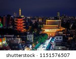 sensoji is an ancient buddhist...   Shutterstock . vector #1151576507