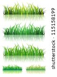 spring or summer green grass... | Shutterstock .eps vector #115158199