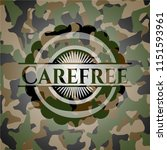 carefree on camouflage pattern | Shutterstock .eps vector #1151593961