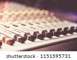 close up of  digital sound... | Shutterstock . vector #1151595731