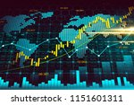 stock market or forex trading... | Shutterstock . vector #1151601311