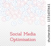 social media icons. social...   Shutterstock .eps vector #1151605661