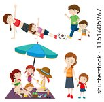 a set of people and activity... | Shutterstock .eps vector #1151605967