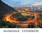 city interchange overpass at...   Shutterstock . vector #1151606234