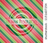 human resources christmas style ... | Shutterstock .eps vector #1151607254