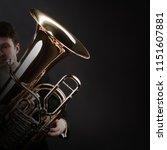 Tuba Player Brass Instrument....