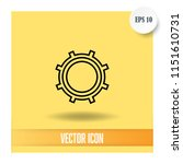 settings vector icon | Shutterstock .eps vector #1151610731
