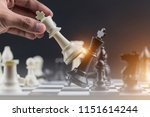 white king in chess game with... | Shutterstock . vector #1151614244