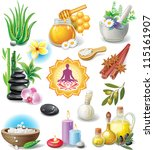 set of spa treatment symbols | Shutterstock .eps vector #115161907