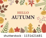 fall autumn decoration greeting ... | Shutterstock .eps vector #1151621681