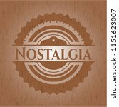 nostalgia wooden emblem.... | Shutterstock .eps vector #1151623007
