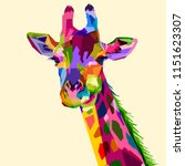 Colorful Wildlife Mammal Fauna...